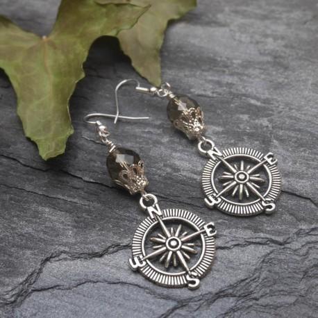 Boucles d'oreilles Jules Verne - Montgolfière