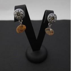 Clou d'oreille swarovski et pendentif nacre - personnalisable