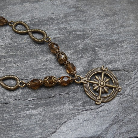 Collier Roses des Vents bronze